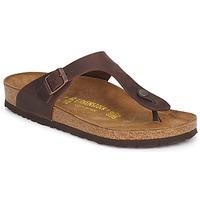 Sapatos Mulher Chinelos Birkenstock GIZEH PREMIUM Castanho