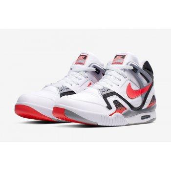Sapatos Sapatilhas de cano-alto Nike Air Tech Challenge 2 Hot Lava White/Hot Lava-Black Silver