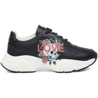 Sapatos Mulher Sapatilhas Ed Hardy - Insert runner-love black/white Preto