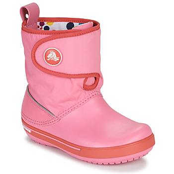 Sapatos Criança Botas de neve Crocs CROCBAND ll.5 GUST BOOT KIDS PLEM PPY Rosa
