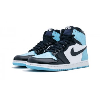 Sapatos Sapatilhas de cano-alto Nike Air Jordan 1 High UNC Patent Leather Obsidian/Blue Chill-White