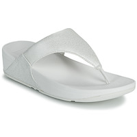 Sapatos Mulher Chinelos FitFlop LULU SHIMMER TOE POST Branco