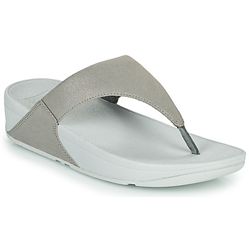 Sapatos Mulher Chinelos FitFlop LULU SHIMMER TOE POST Prata