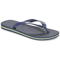 Sapatos Chinelos Havaianas BRASIL LOGO Marinho