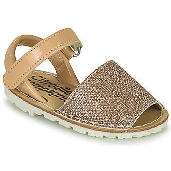Sapatos Rapariga Sandálias Citrouille et Compagnie SQUOUBEL Bege