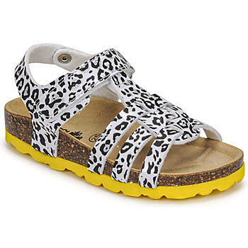 Sapatos Rapariga Sandálias Citrouille et Compagnie JANISOL Leopardo / Branco / Preto