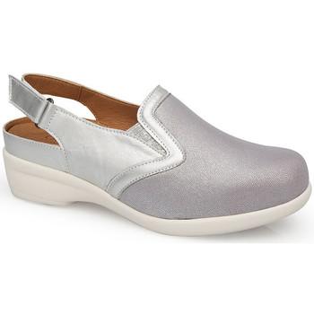Sapatos Mulher Tamancos Calzamedi SANDÁLIAS  JUANETES ELASTICA PLATINA