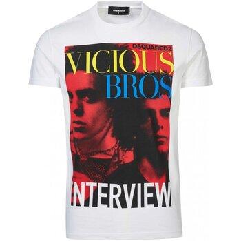 Textil Homem T-Shirt mangas curtas Dsquared S74GD0475 Branco