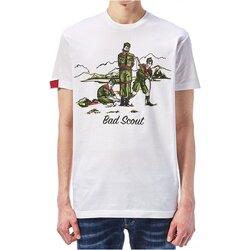 Textil Homem T-Shirt mangas curtas Dsquared S74GD0361 Branco