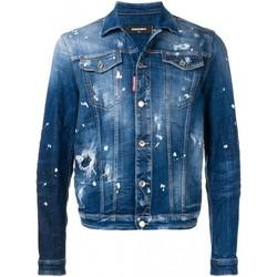 Textil Homem casacos de ganga Dsquared S71AN0052 Azul