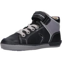Sapatos Rapaz Sapatilhas de cano-alto Kickers 830090 IRELAS Negro