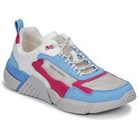 Sapatos Mulher Sapatilhas Skechers BLOCK/WEST Branco / Azul / Rosa