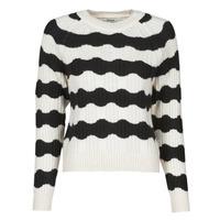Textil Mulher camisolas Only ONLKAITLIN Preto / Branco
