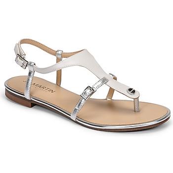 Sapatos Mulher Sandálias JB Martin GAELIA Branco / Prateado