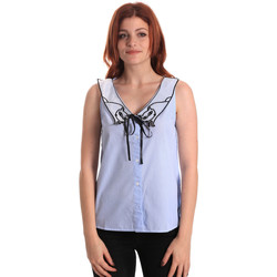 Textil Mulher Tops / Blusas Fornarina SE174576CA1218 Azul