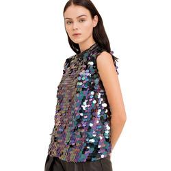 Textil Mulher Tops / Blusas Fracomina FR19FP508 Preto