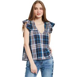 Textil Mulher Tops / Blusas Gaudi 011BD45007 Azul