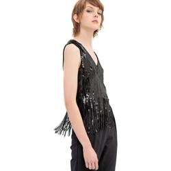 Textil Mulher Tops / Blusas Fracomina FR20SP503 Preto