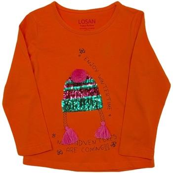 Textil Criança T-shirt mangas compridas Losan 026-1201AL Laranja