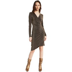 Textil Mulher Vestidos curtos Gaudi 021FD14003 Ouro