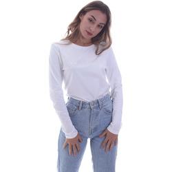Textil Mulher T-shirt mangas compridas Calvin Klein Jeans K20K202386 Branco