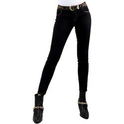 Textil Mulher Calças de ganga slim Versace A1HVB02HAPV4P899 Preto