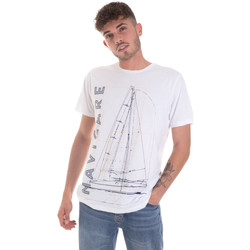 Textil Homem T-Shirt mangas curtas Navigare NV31109 Branco