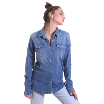 Textil Mulher camisas Fornarina BE174577D884AS Azul
