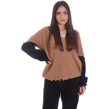 Textil Mulher camisolas P-Jean 1X109Q Y4ZX Bege