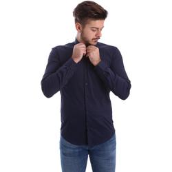Textil Homem Camisas mangas comprida Automatic CAU22400 Azul
