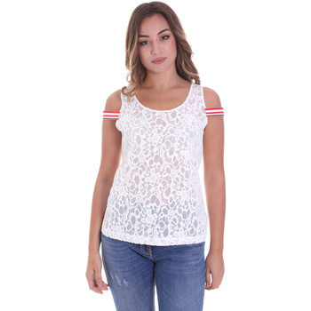 Textil Mulher Tops / Blusas Fornarina BE175J89JG1309 Branco