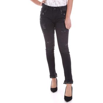 Textil Mulher Calças de ganga slim Fracomina F120W10002D00304 Preto