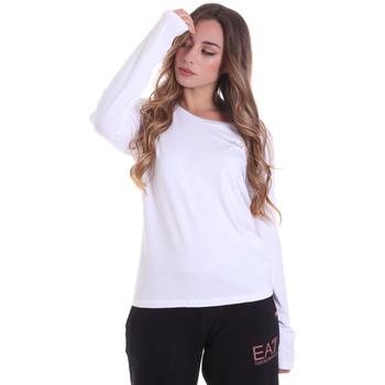 Textil Mulher T-shirt mangas compridas Ea7 Emporio Armani 6HTT04 TJ28Z Branco