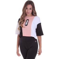 Textil Mulher T-Shirt mangas curtas Fila 687943 Rosa