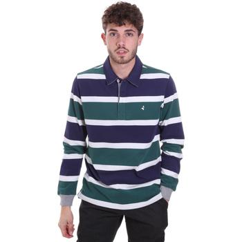 Textil Homem Polos mangas compridas Navigare NV30026 Azul