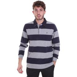 Textil Homem Polos mangas compridas Navigare NV30029 Azul