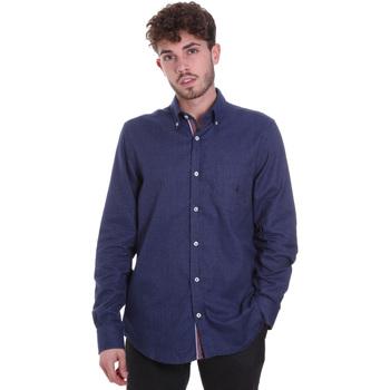 Textil Homem Camisas mangas comprida Navigare NV91135 BD Azul