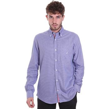 Textil Homem Camisas mangas comprida Navigare NV91133 BD Azul