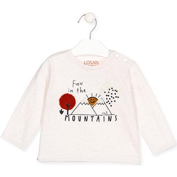 Textil Rapariga T-shirt mangas compridas Losan 027-1018AL Bege