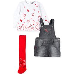 Textil Rapariga Conjunto Losan 028-8002AL Cinzento