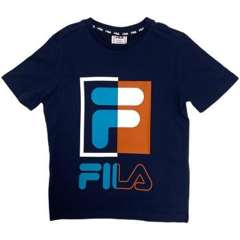Textil Criança T-Shirt mangas curtas Fila 688149 Azul