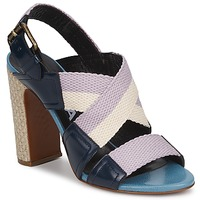 Sapatos Mulher Sandálias Rochas NASTR Preto / Violeta / Cru
