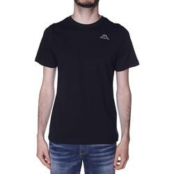 Textil Homem T-Shirt mangas curtas Kappa  Preto