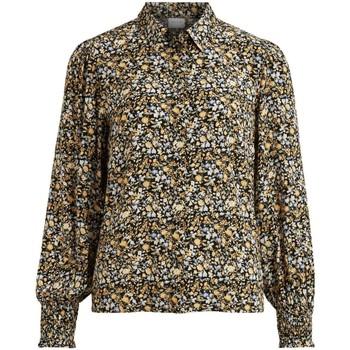Textil Mulher camisas Vila  Negro