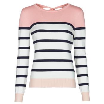 Textil Mulher camisolas Betty London ORALI Rosa / Cru