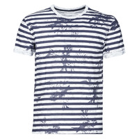 Textil Homem T-Shirt mangas curtas Yurban OLORD Marinho / Branco