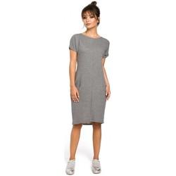 Textil Mulher Vestidos Be B050 Vestido Midi com bolsos em cinzento - cinzento