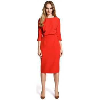 Textil Mulher Vestidos curtos Moe M360 Vestido de meia-longa com top de ajuste solto - vermelho