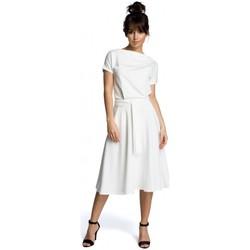 Textil Mulher Vestidos curtos Be B067 Vestido em fósforo - ecru
