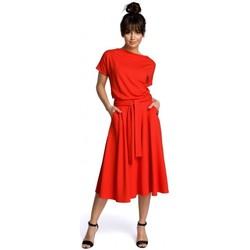Textil Mulher Vestidos curtos Be B067 Vestido em fósforo - vermelho